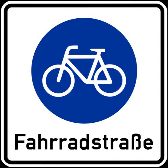 Kerékpáros utcát jelző tábla