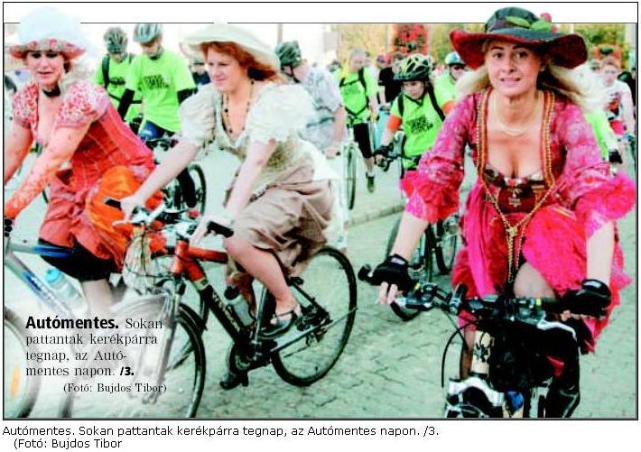 ...akik stílusosan meg is jelentek. Jól láthatjuk a korabeli sajtófotón (Észak-Magyarország c. lap címlapjáról)
